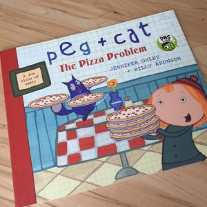 Peg + Cat: The Pizza Problem book by Jennifer Oxley and Billy Aronson.
