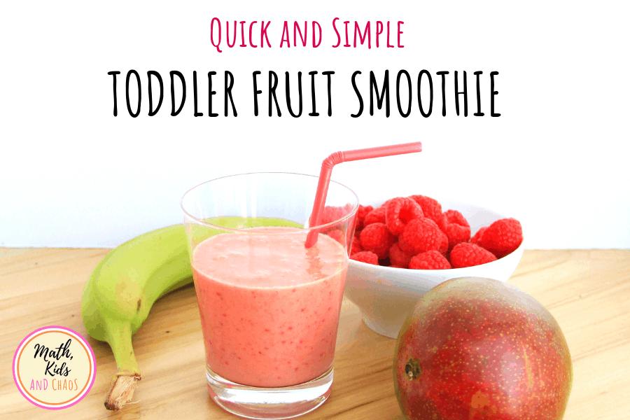 toddler fruit smoothie