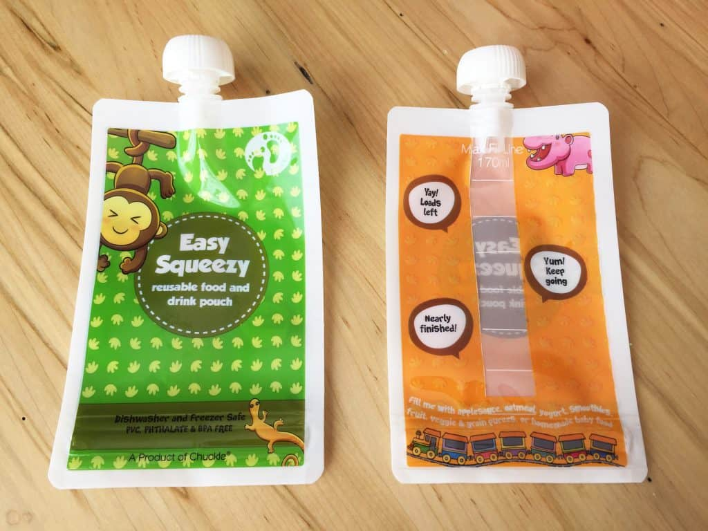 REUSABLE FOOD POUCH BY CHUCKLE