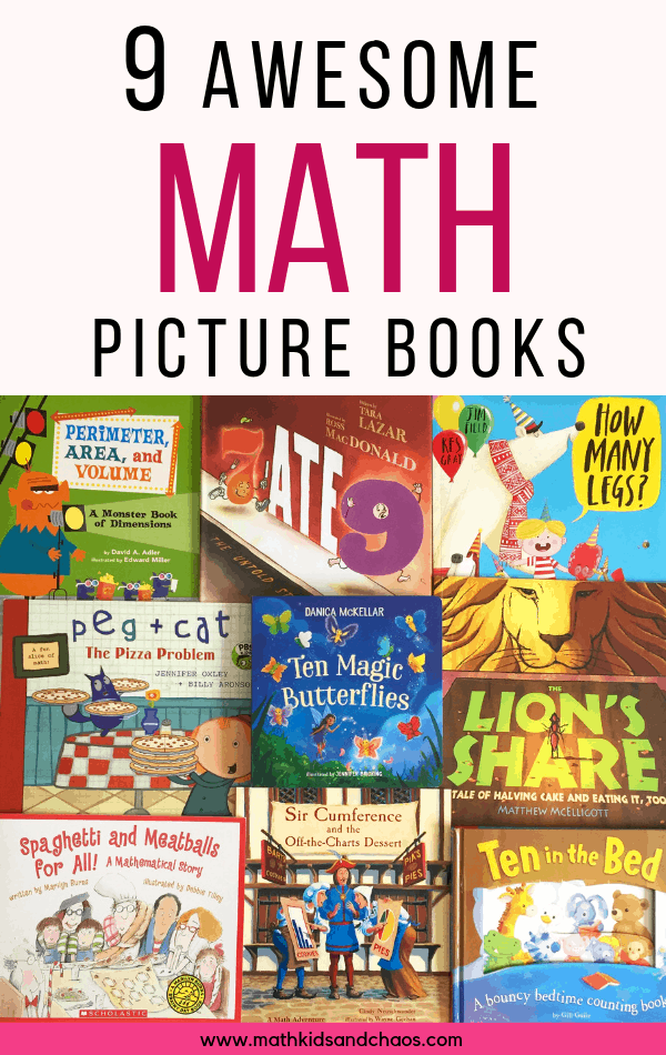 9 awesome math picture books for children.