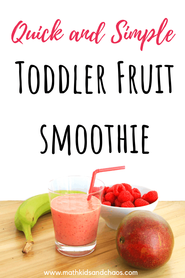 FRUIT  SMOOTHIE MADE FROM BANANA, MANGO AND RASPBERRIES