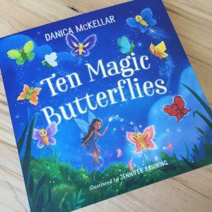 children's book called Ten Magic Butterflies by Danica McKellar and Jennifer Bricking.