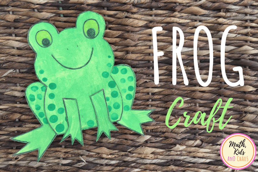 Paper frog craft for kids.