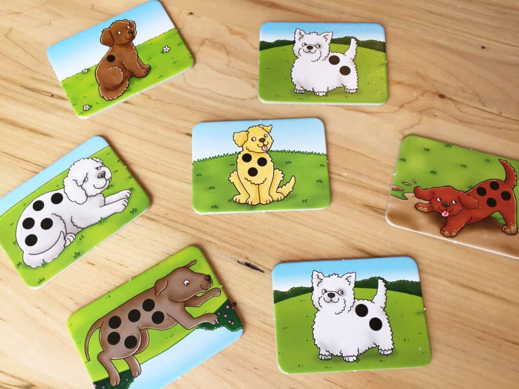 Spotty Dogs math game by Orchard Toys