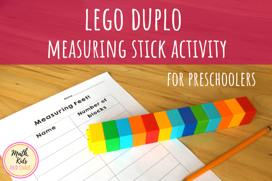 LEGO DUPLO MEASURING STICK ACTIVITY