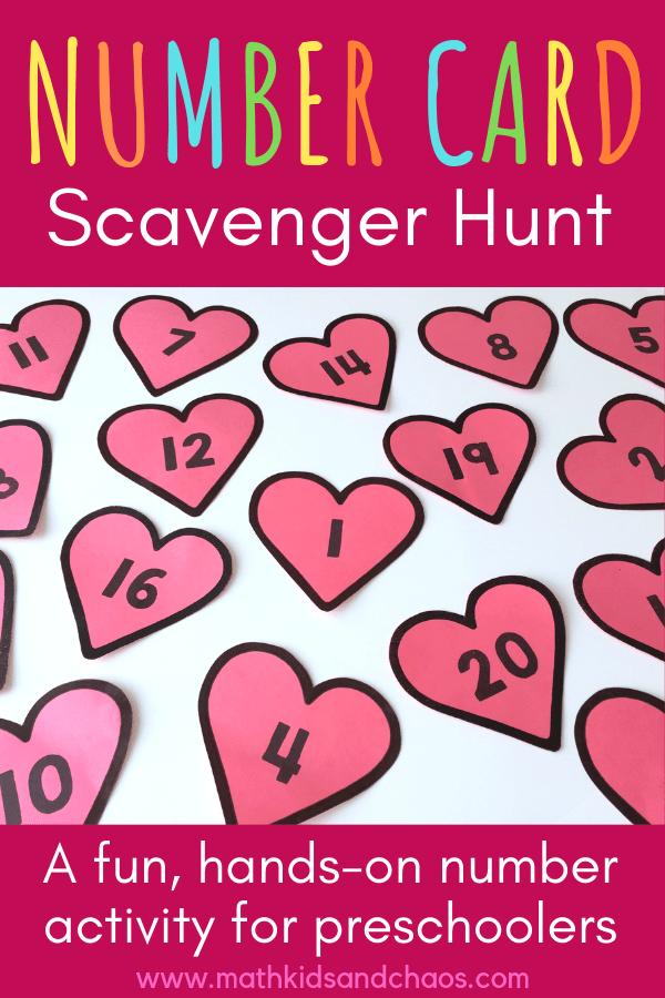 NUMBER CARD SCAVENGER HUNT PIN