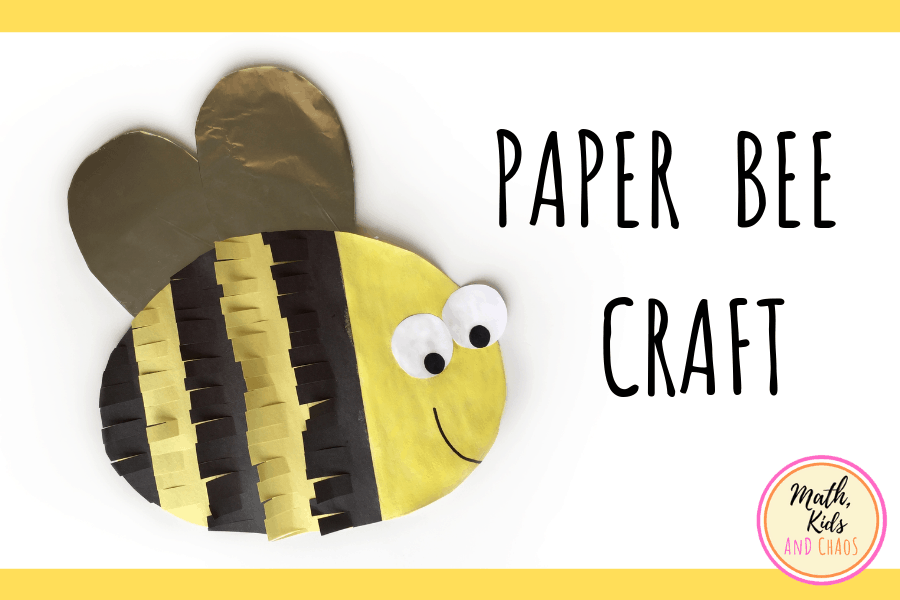 PAPER BEE CRAFT FEATURED IMAGE