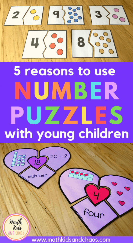 5 reasons to use number puzzles with young children PIN
