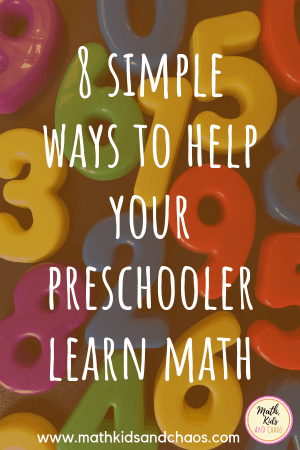 Simple ways to include math in your preschooler's day PIN