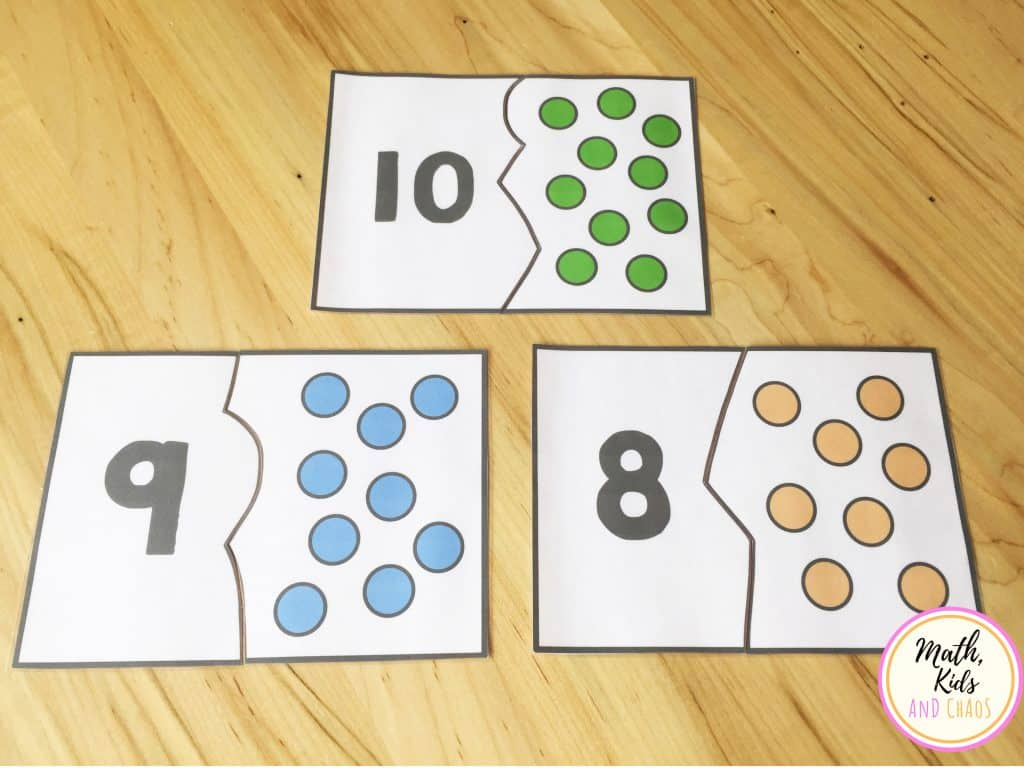 number puzzles for numbers 8, 9 and 10