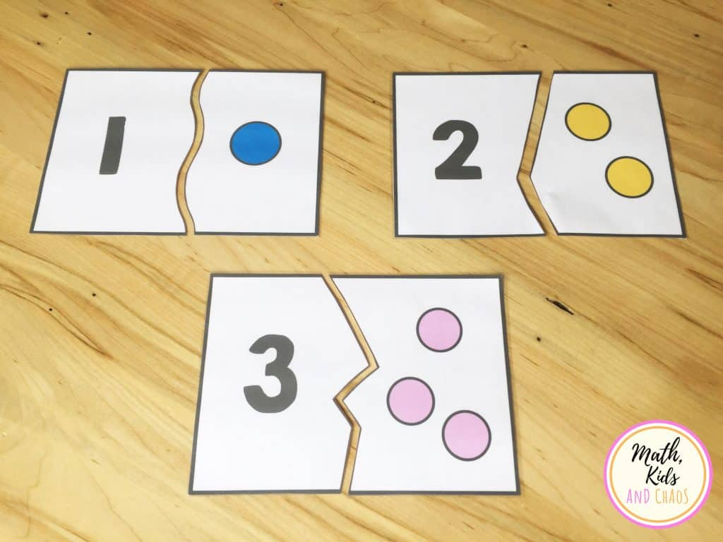 number puzzles for numbers 1, 2 and 3