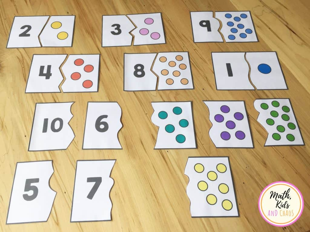 number puzzles half-completed
