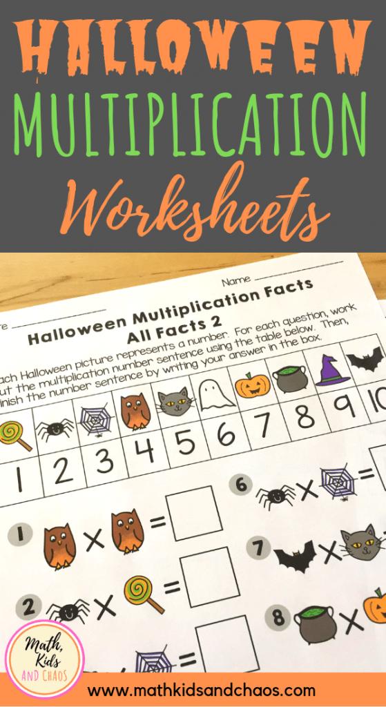 Halloween Multiplication Worksheets PIN