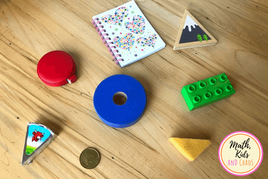 everyday objects for shape sorting activity