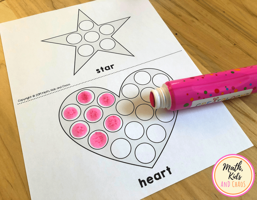 heart and star printable