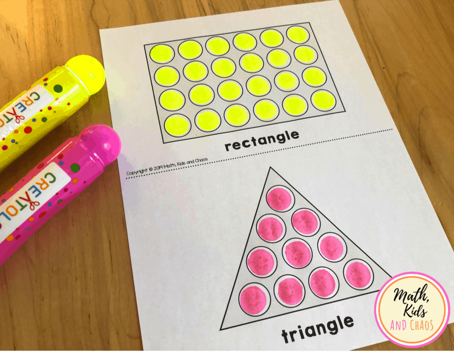rectangle and triangle dot marker printable