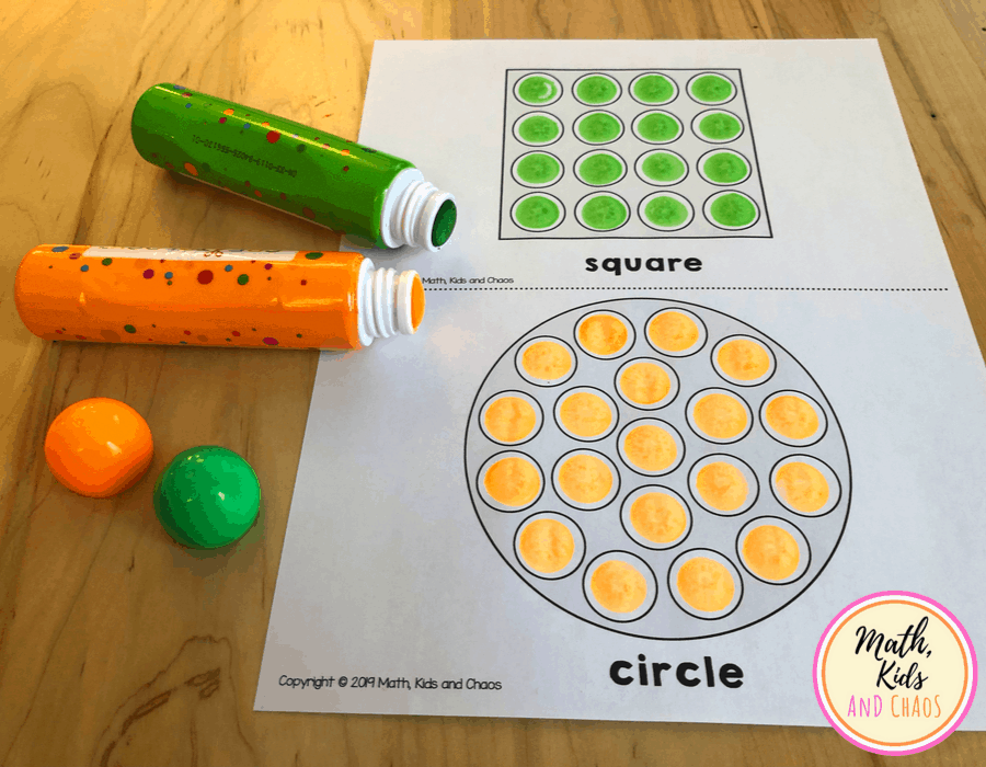 circle and square printable