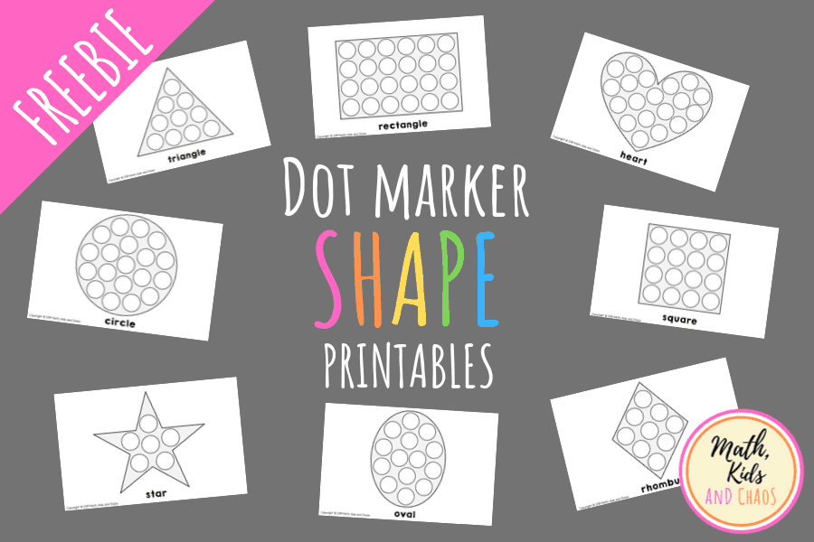Shape dot marker printables featured image