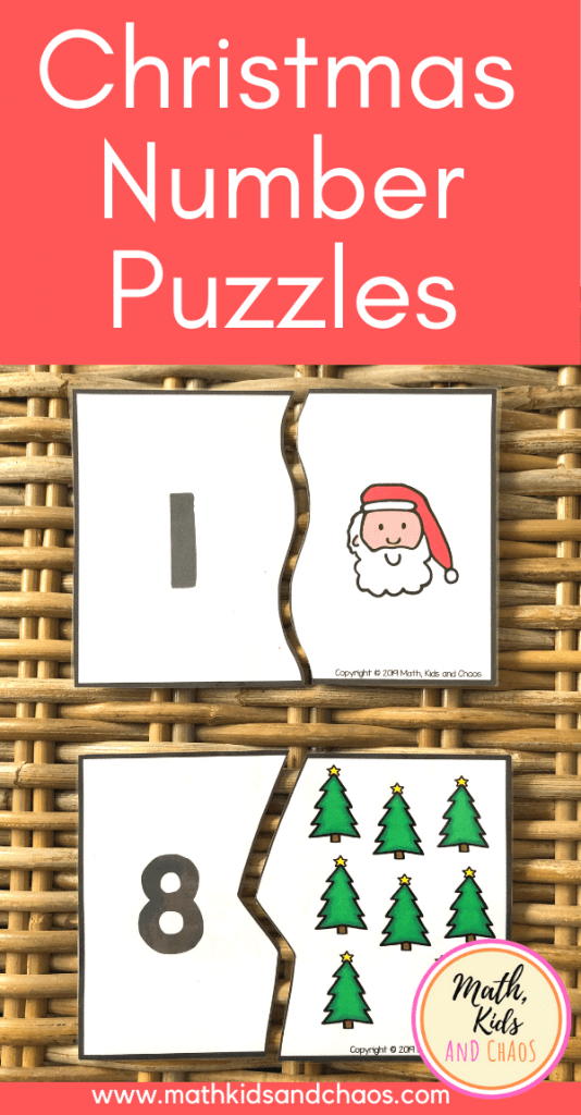Christmas number puzzles pin