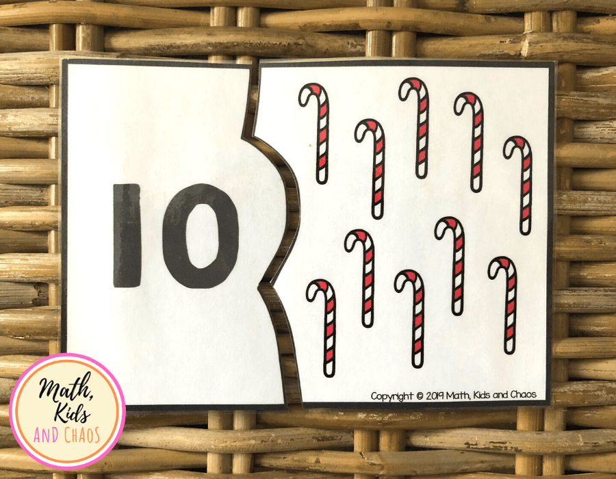 Christmas number puzzle for number 10