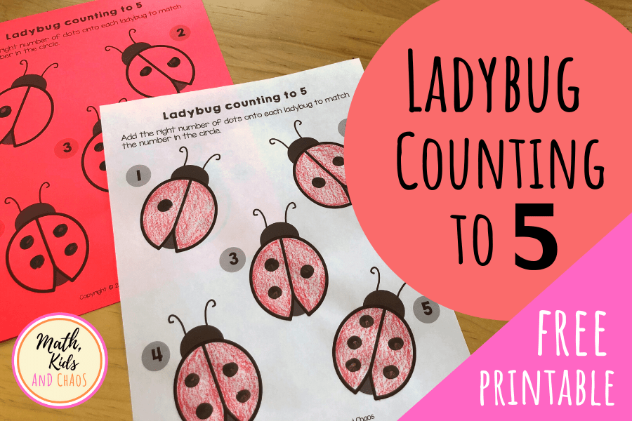FINGERPAINT LADYBUG ACTIVITY - COUNTING TO 5
