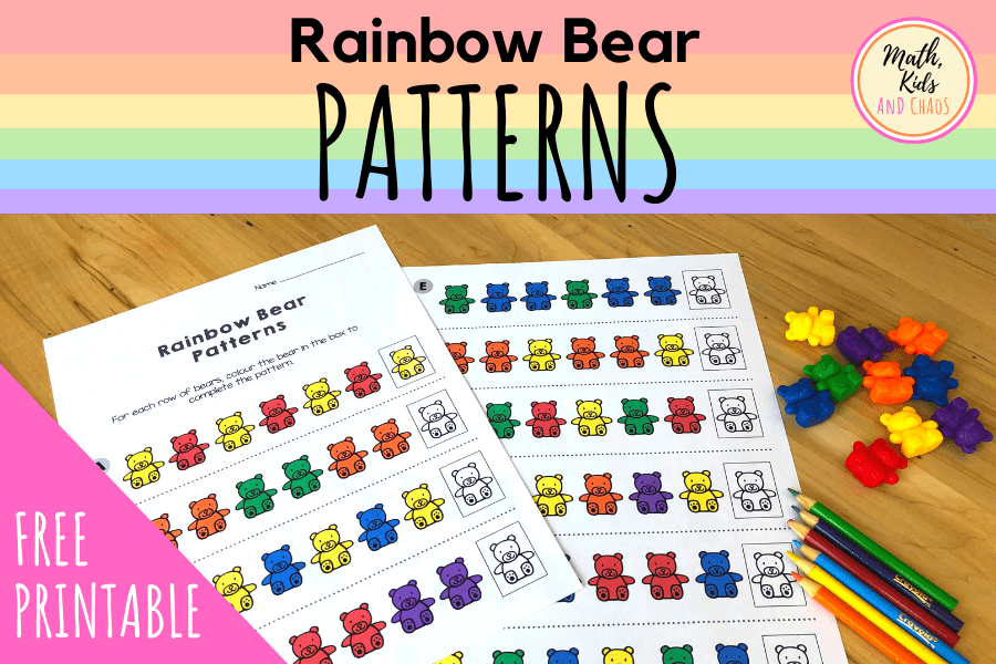 Rainbow bear patterns