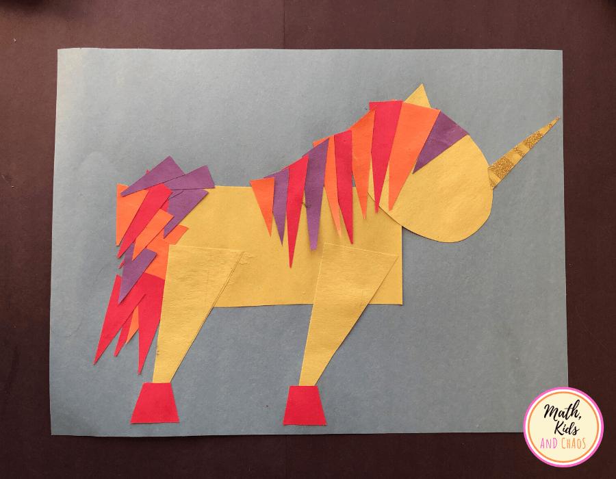 2D shape unicorn