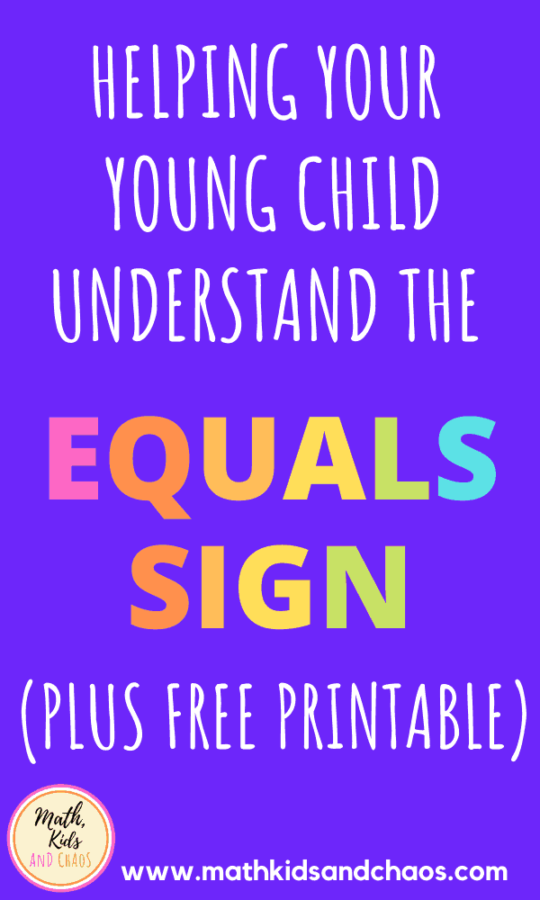 How to introduce your young child to the equals sign