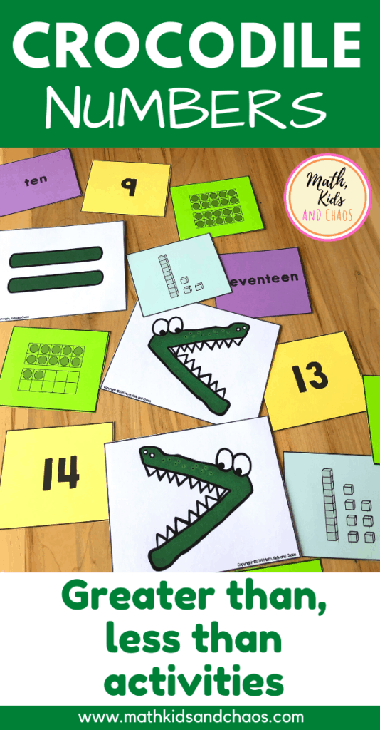 Crocodile  Numbers - Comparing numbers to 20 PIN