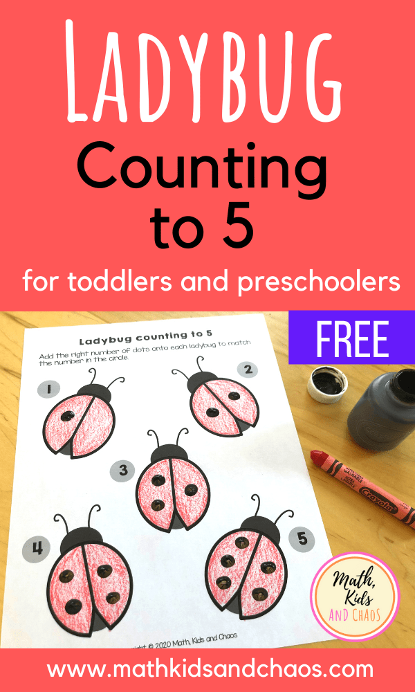 Ladybug counting to 5 (for toddlers and preschoolers)