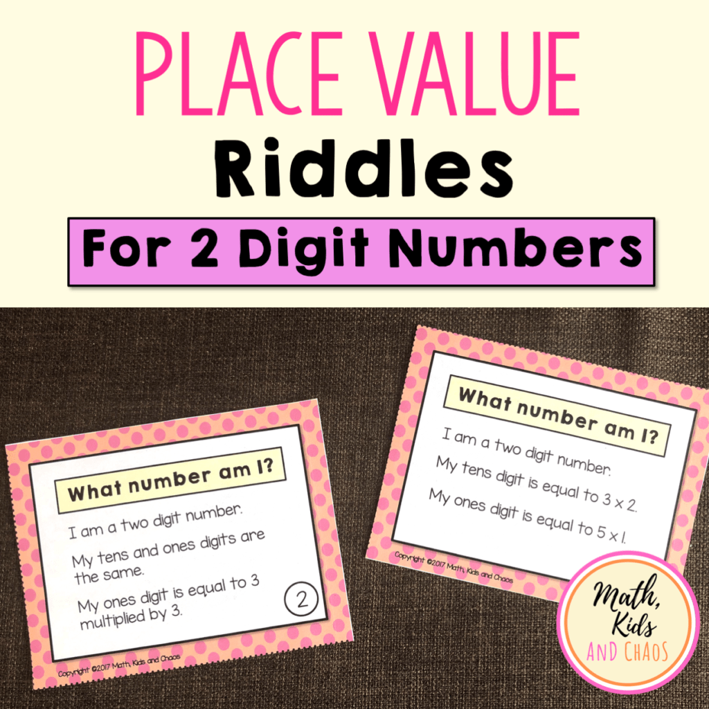 Product cover for 2 digit place value riddles