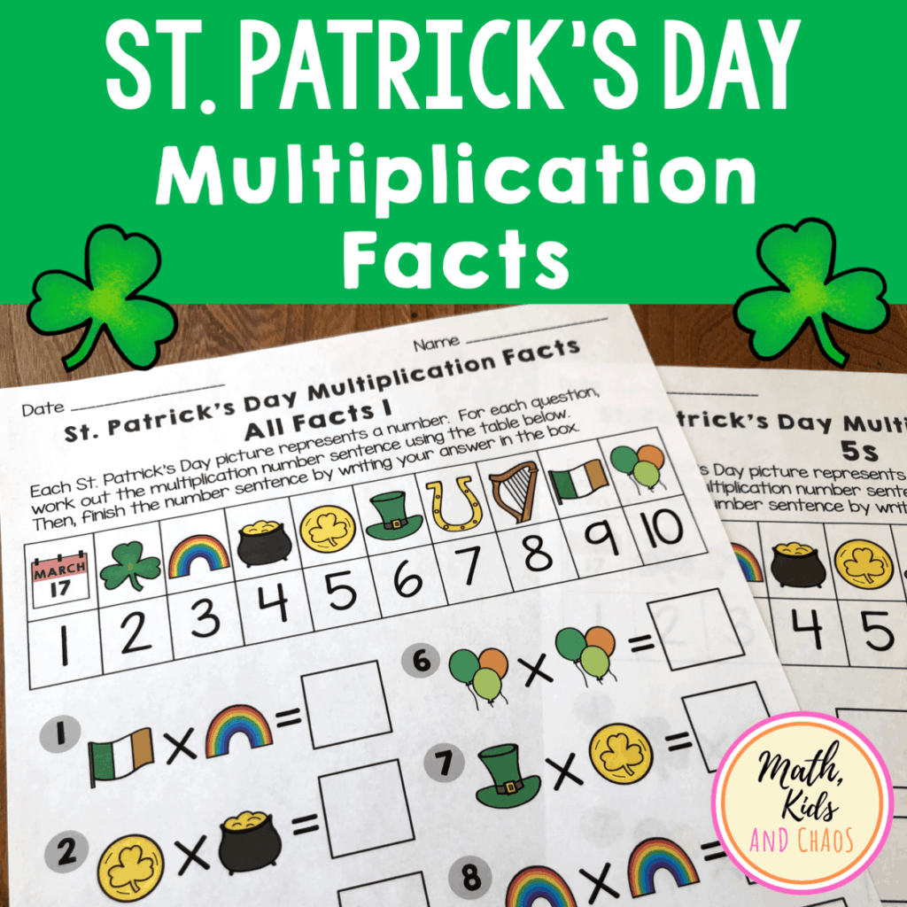 St. Patrick's Day Multiplication Facts
