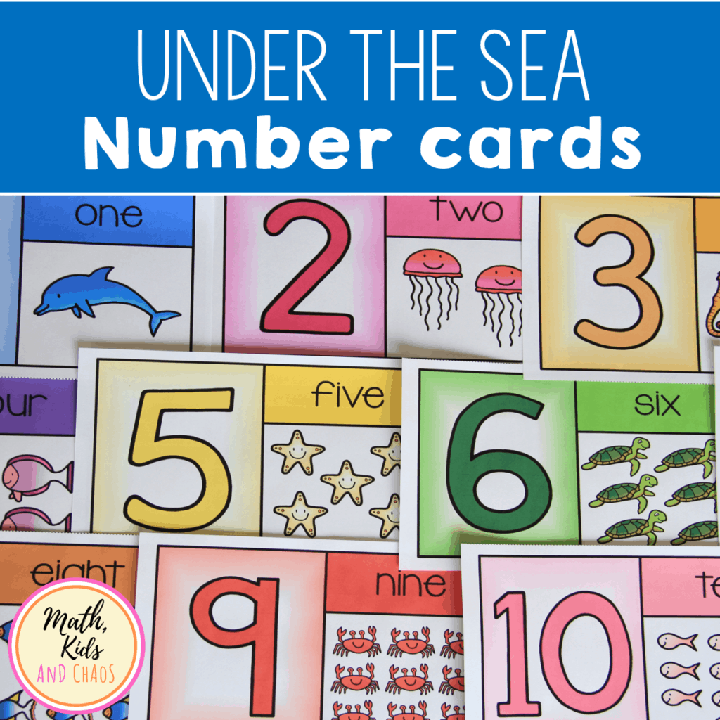 Under the Sea Number Cards 1 to 10 product cover