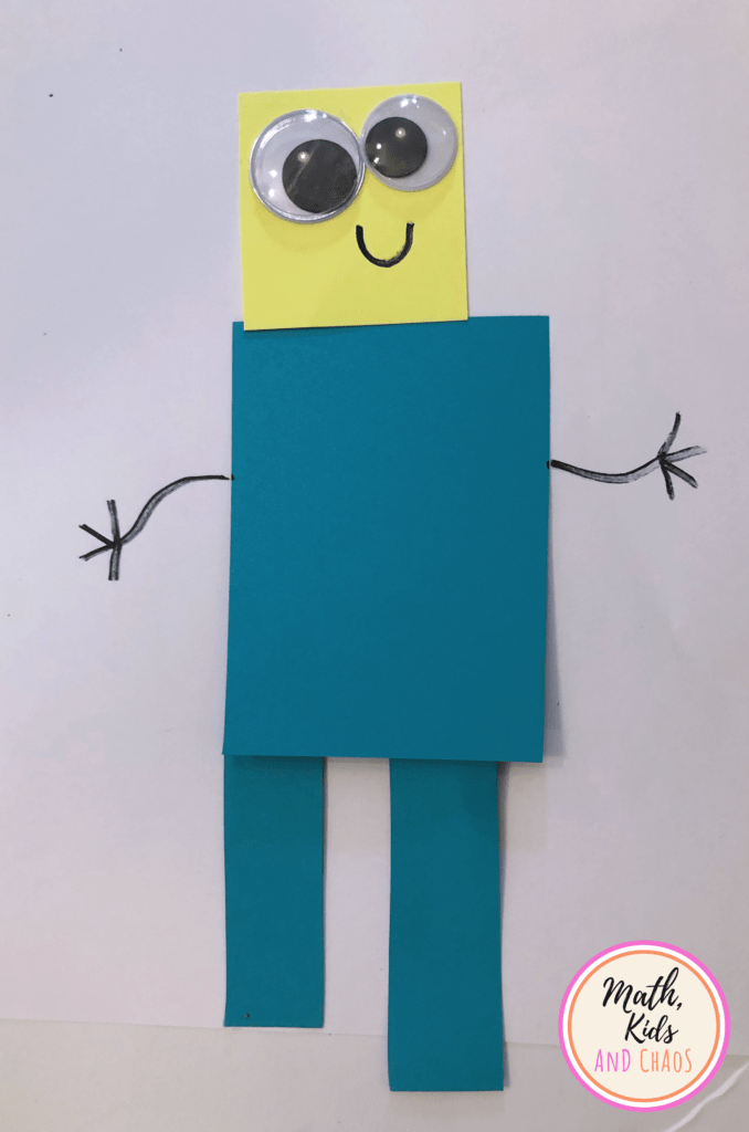 Blue shape person with yellow head