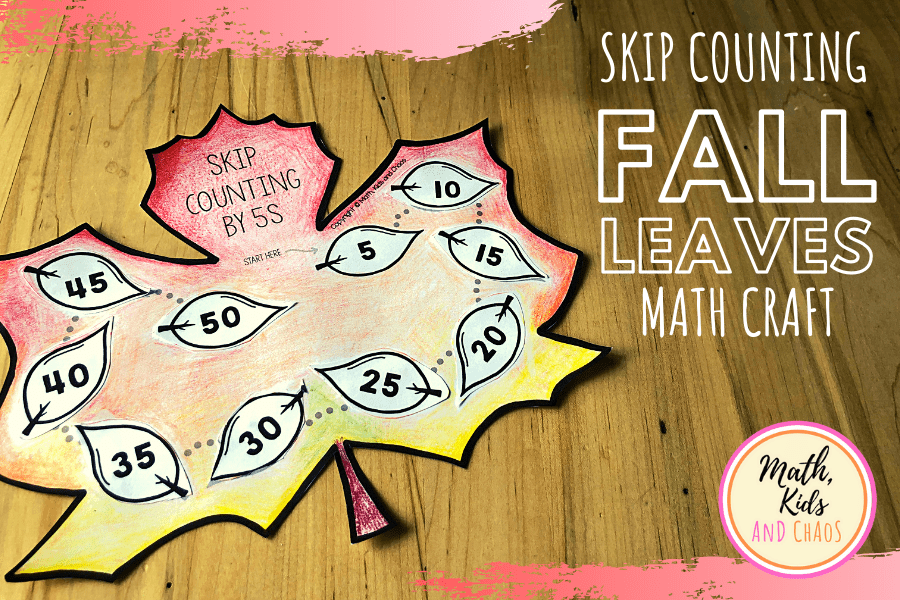 Skip counting fall leaves (math craft!)