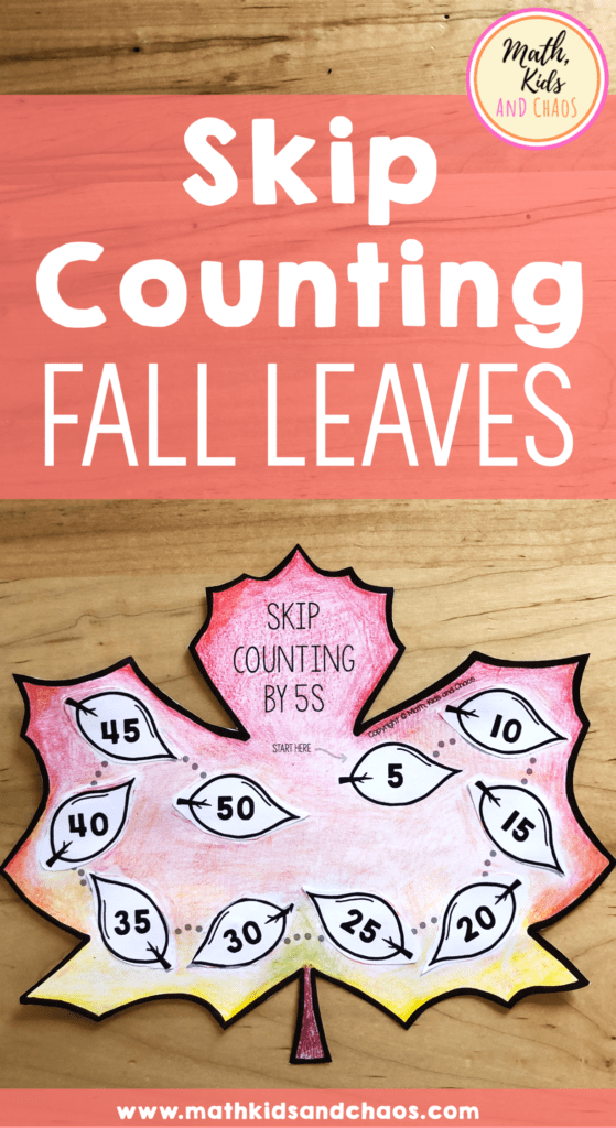 skip counting fall leaves