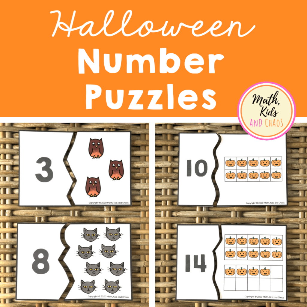 Halloween Number Puzzles Product Cover