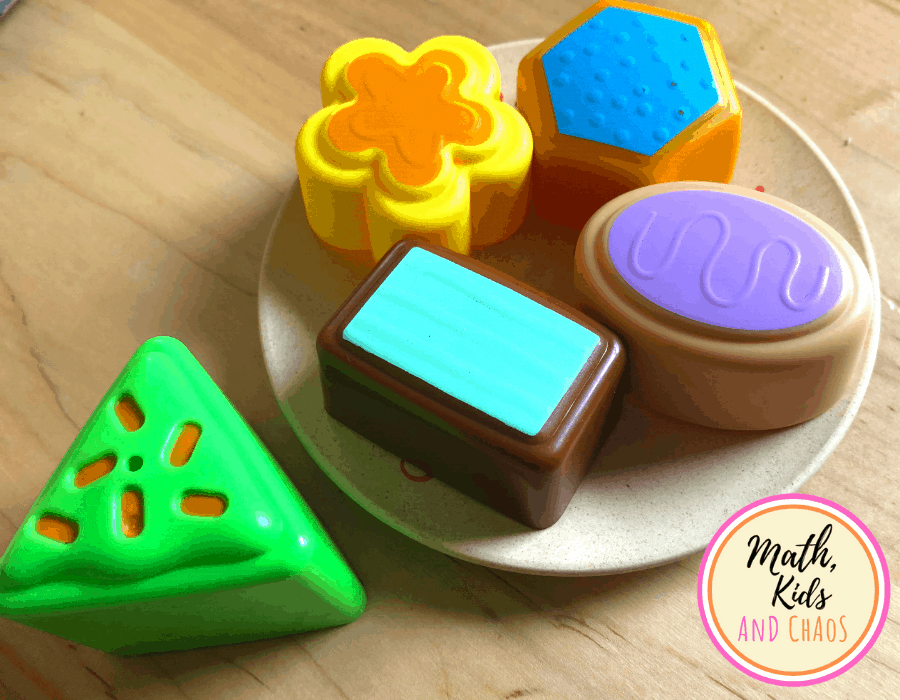 Shape cookies for cafe pretend play set-up