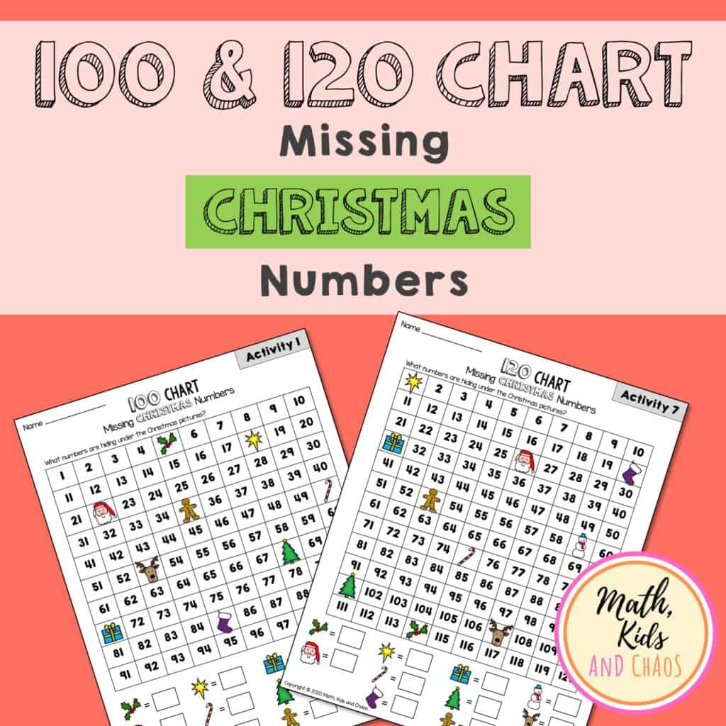 100 and 120 Chart Missing Christmas Number product cover