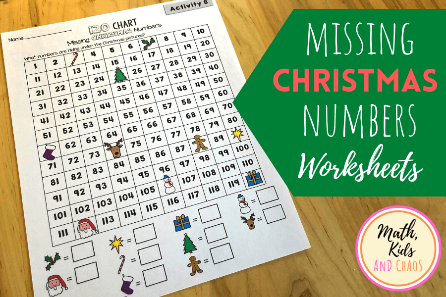 CHRISTMAS MISSING NUMBERS ACTIVITIES