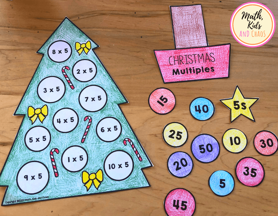 Colored in Christmas tree template