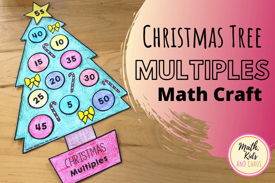 Christmas tree multiples math craft