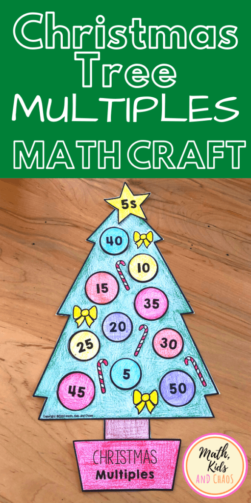 Christmas Tree Multiples (math craft!)