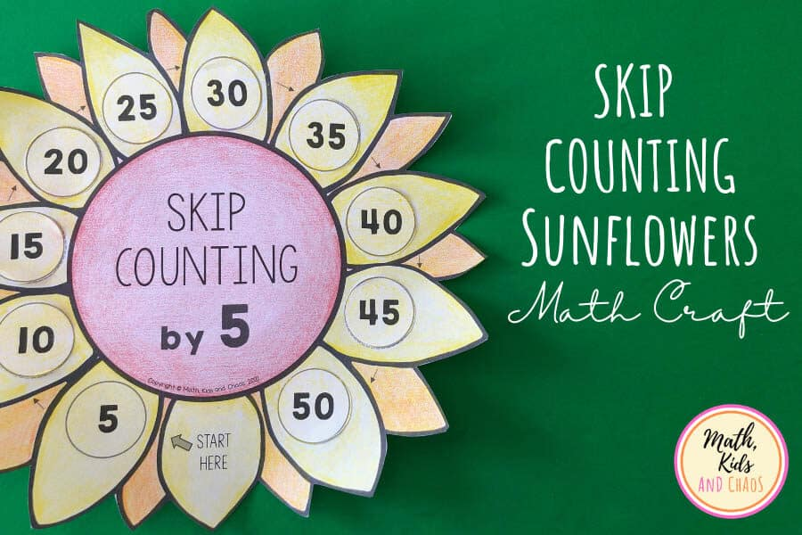SKIP COUNTING SUNFLOWERS MATH CRAFT FEATURED IMAGE