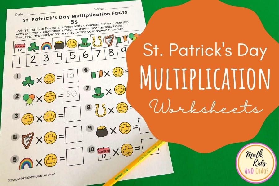 St Patrick's Day Multiplication worksheets