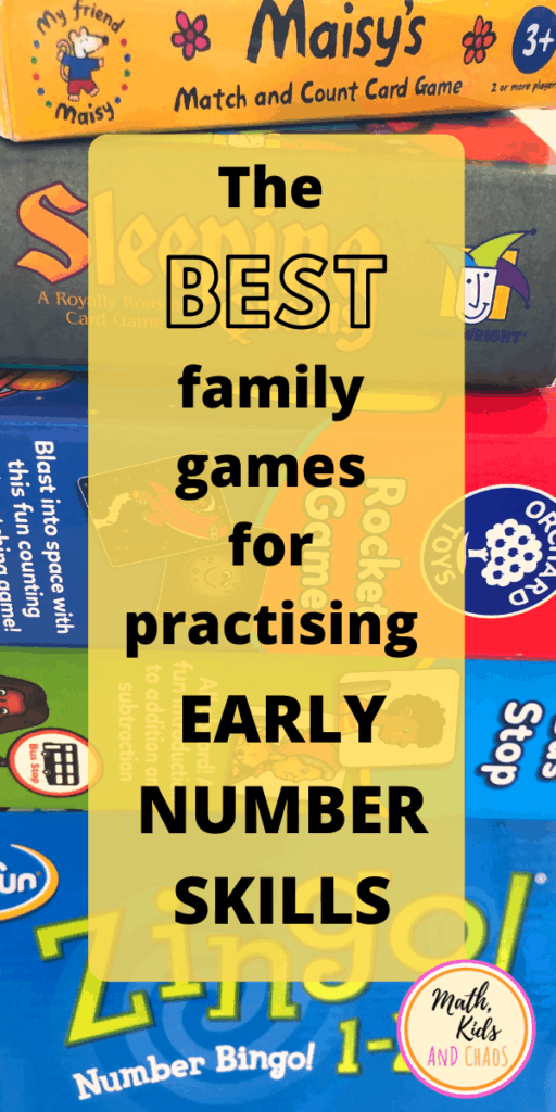 The best family games for practising early number skills