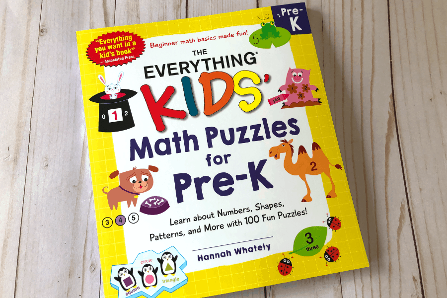 Everything Kids' Math Puzzles for Pre-K Book